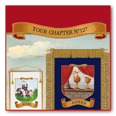 Personalize your Banners with the Name of your Chapter. 12 Royal Arch Banners.