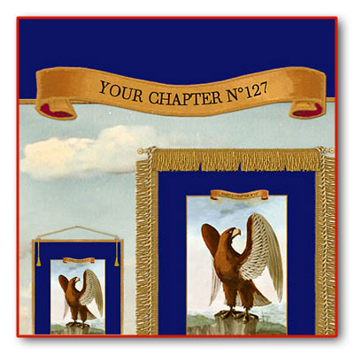 Personalize your Banners with the Name of your Chapter. 4 Large Royal Arch Banners US.
