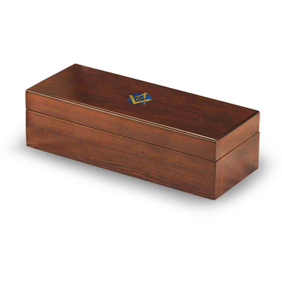 Box for Masonic Gavel Square and Compass. Gift Freemasonry