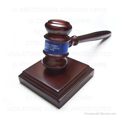 Gavel Blue. Gift Freemasonry
