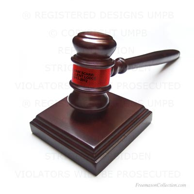 Gavel Red. Gift Freemasonry