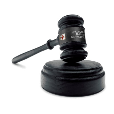 Knight Templar Gavel. Gift Freemasonry