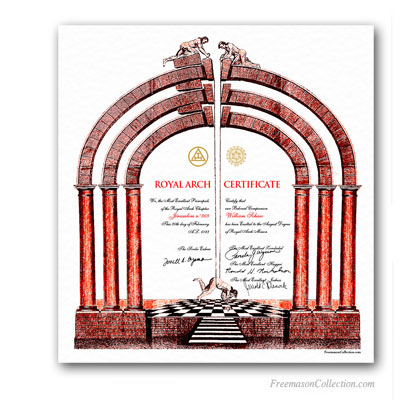 Royal Arch Certificate.