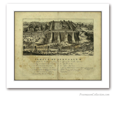 The Temple of Jerusalem. Romeyn de Hooghe. Amsterdam, 1715. Masonic Art