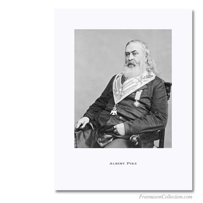 Albert Pike,  Sovereign Grand Commander for the Scottish Rite. Masonic Art