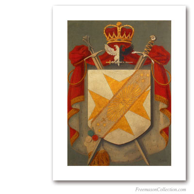 Armorial of Inspecteur General . Circa 1930. 33° Scottish Rite Degree. Scottish Rite. Masonic Art