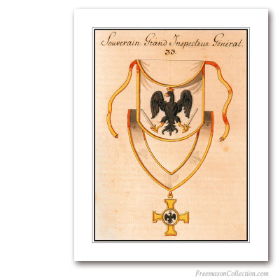 Regalia. Inspecteur General. XIXth Century. 33° Degree. Scottish Rite. Masonic Art