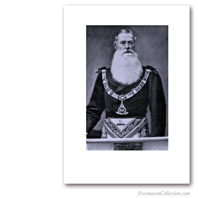 The Earl of Latham, Grand Master. XIXth Century Portrait. Masonic Art