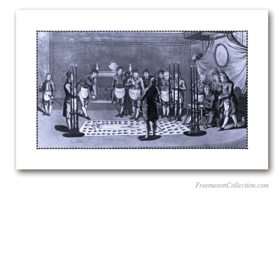 Raising of a Master (2). 1812. Very interesting testimonial. Masonic Art