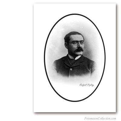 Portrait of Rudyard Kipling (2). Early XXth Century. Poet and Freemason. Masonic Art