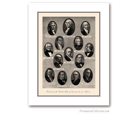 Presidents of United States of America who were Masons. Masonic Art