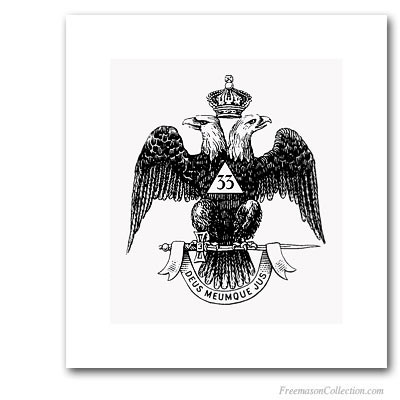 Double-Headed Eagle. 33° Degree.
