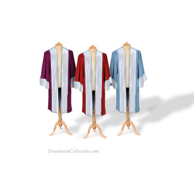 3 Principals Robes. Royal Arch. Zerubbabel, Haggai, Joshua. Anti-stain protected cloth. One size. Freemasonry