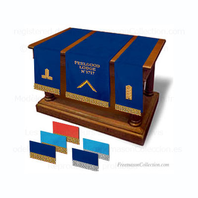 Pedestal Covers. Freemasonry