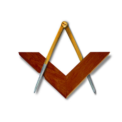 Square and Compass for the Altar. Square in acacia wood. Compass in brass and steel. Notch system for a unmatchable stability on the Bible. Freemasonry