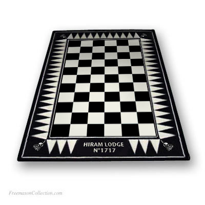 Personalized Lodge carpet. Included: personalization with the name of your Lodge. Anti-stain, anti-fouling. Freemasonry