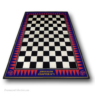 Personalized Royal Arch Carpet. Included: personalization with the name of the Chapter. Anti-stain, anti-fouling. Freemasonry