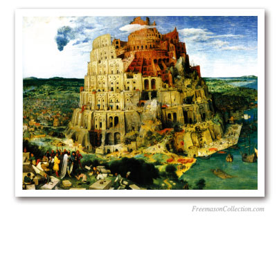 The Tower of Babel. Bruegel L'Ancien, 1563. Masonic Paintings