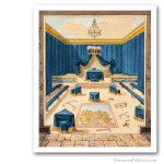 Prince of Libanus Lodge. Early XIXth. Issued on Art Canvas. Freemasonry