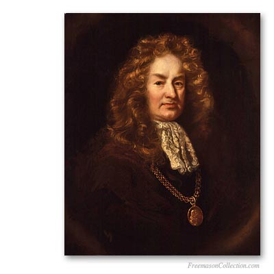 Elias Ashmole, first recorded english Freemason. Famous Freemasons. Freemasonry