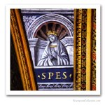 Theological virtues: Hope, France, early XVIth. Issued on Art Canvas. Freemasonry