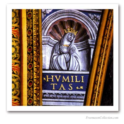 Virtues : Humility. Masonic Paintings