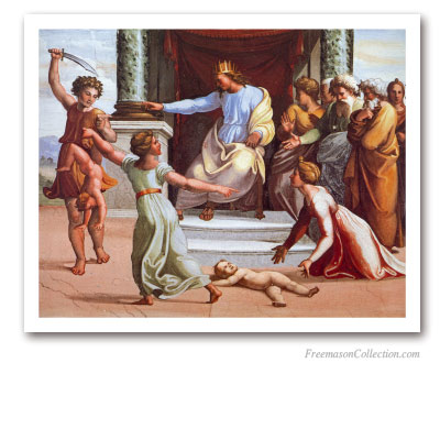 The Judgement of Solomon. Raffaello. Masonic Paintings