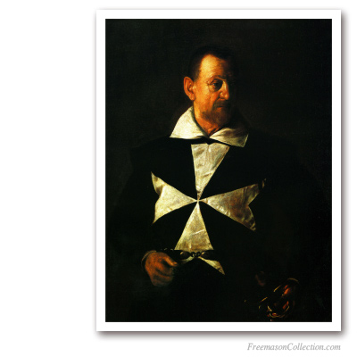 Knight of The Order Of Malta. Masonic Paintings