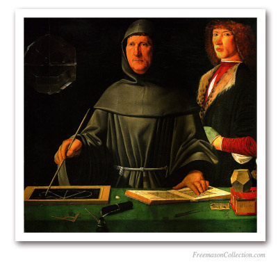 The Geometrician Monk (Portrait of brother Luca Pacioli). Masonic Paintings