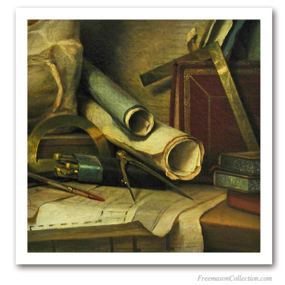 The Architect Tools. Masonic Paintings