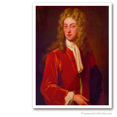The Duke of Montagu. Early XVIIIth. Masonic Paintings