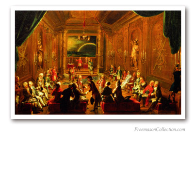 A Lodge Meeting in Vienna. Circa 1786. Masonic Paintings