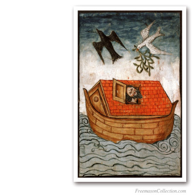 Noah Ark. Anonymous. XV. Royal Ark Mariners. Masonic Paintings
