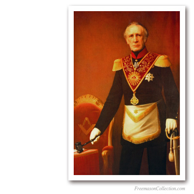 Prince Frederic of the Netherlands as Grand Master. Early XIXth. Masonic Paintings
