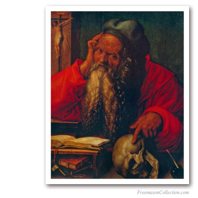 Saint Jerome. Albrecht Durer, 1521. Masonic Paintings