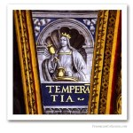 Cardinal Virtues : Temperance, France, early XVIth. Issued on Art Canvas. Freemasonry