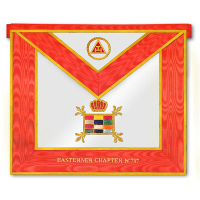 'Royal Arch Past High Priest Apron -Massachussetts regulation- Royal Arch Regalia