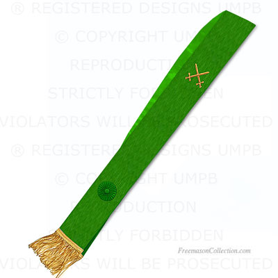 Knight Mason Sash - Green Degree
