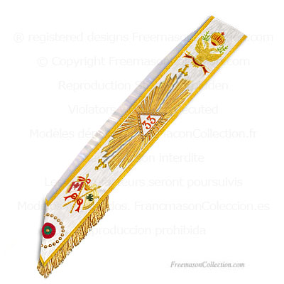 '33° Degree sash- Scottish Rite Regalia