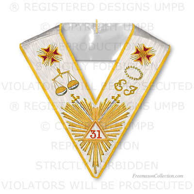 '31° Degree Collar- Scottish Rite Regalia