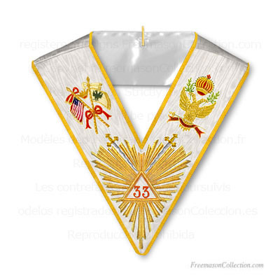 '33° Degree Collar- Scottish Rite Regalia