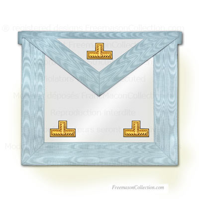 Worshipful Master Apron - Rectified Scottish Rite - Rectified Scottish Rite Regalia