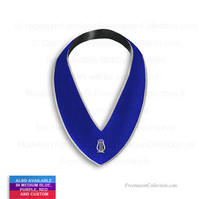 'Blue Organist Mason Collar  - Blue Lodge Regalia