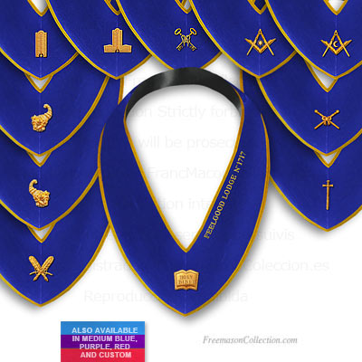 Blue Lodge 11 Officer Collars   - Blue Lodge Regalia