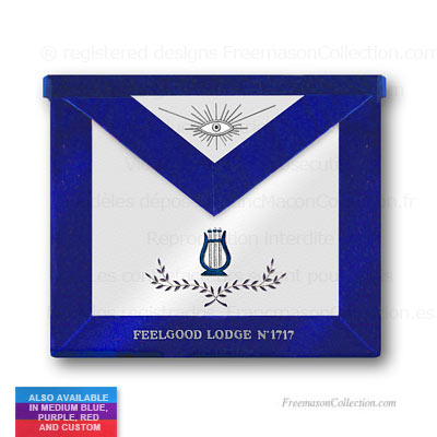 'Blue Lodge Organist Apron - Blue Lodge Regalia