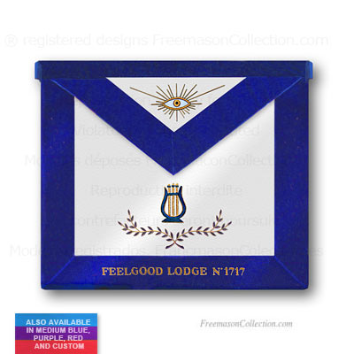 Blue LodgeOrganist Apron - Blue Lodge Regalia