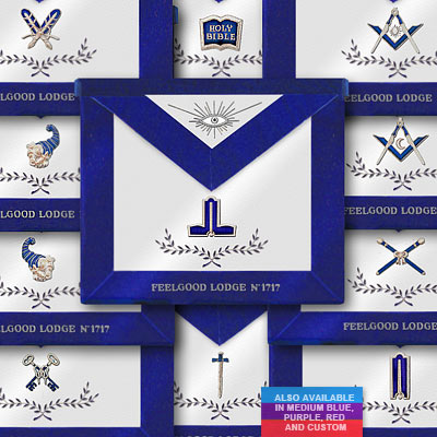 'Blue Lodge 11 Officer Aprons - Blue Lodge Regalia