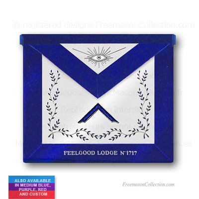 'Blue Lodge Worshipful Master Apronn - Blue Lodge Regalia