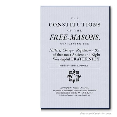 The Constitutions of the Free-Masons by James Anderson.