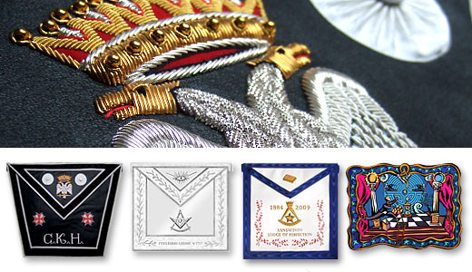 Bespoke Aprons, Collars, Saches, exceptional Regalia